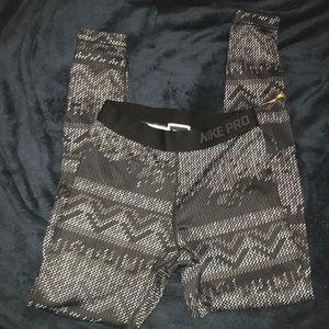 Nike Pro Dri-fit patterned leggings